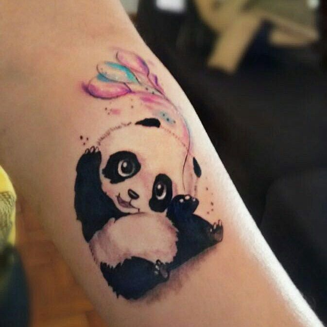 Pin By Maria Del Mar Obando On Tatto Panda Tattoo Small Girly Tattoos Bear Tattoos