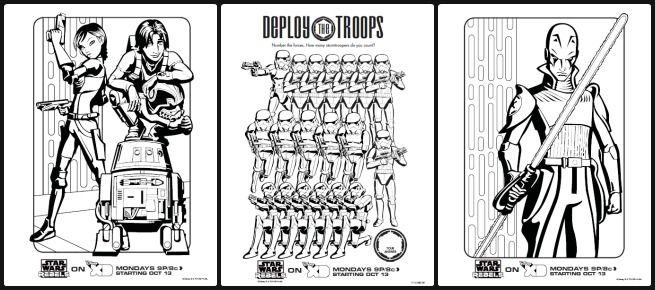 Chopper Star Wars Coloring Pages. Free printable Star Wars Rebels coloring pages and activity sheets