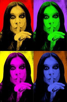 OZZY OSBOURNE singer celebrity MULTIPLE IMAGE pop art poster 24X36 ELECTRIC