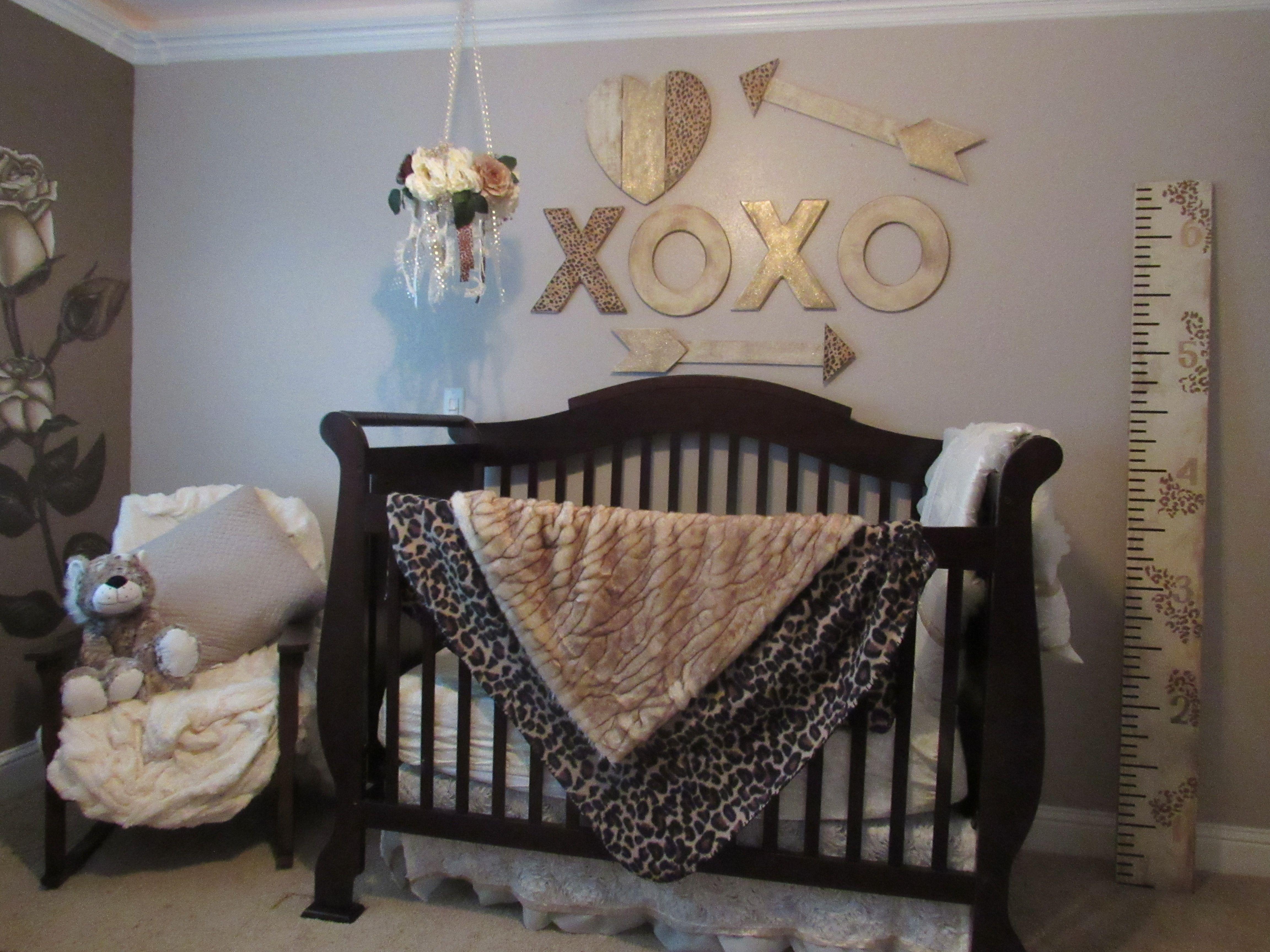 Rustic Shabby Chic Cheetah Girls Room Nursery Girls Nursery Home Decor Nursery Decor Nursery Decor Decor Baby Room Decor