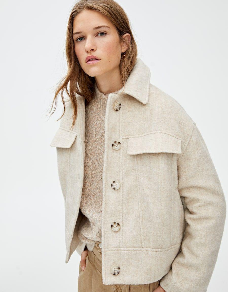 Trucker Jacket De Pano Pull Bear Winter Fashion Outfits Fashion Jackets