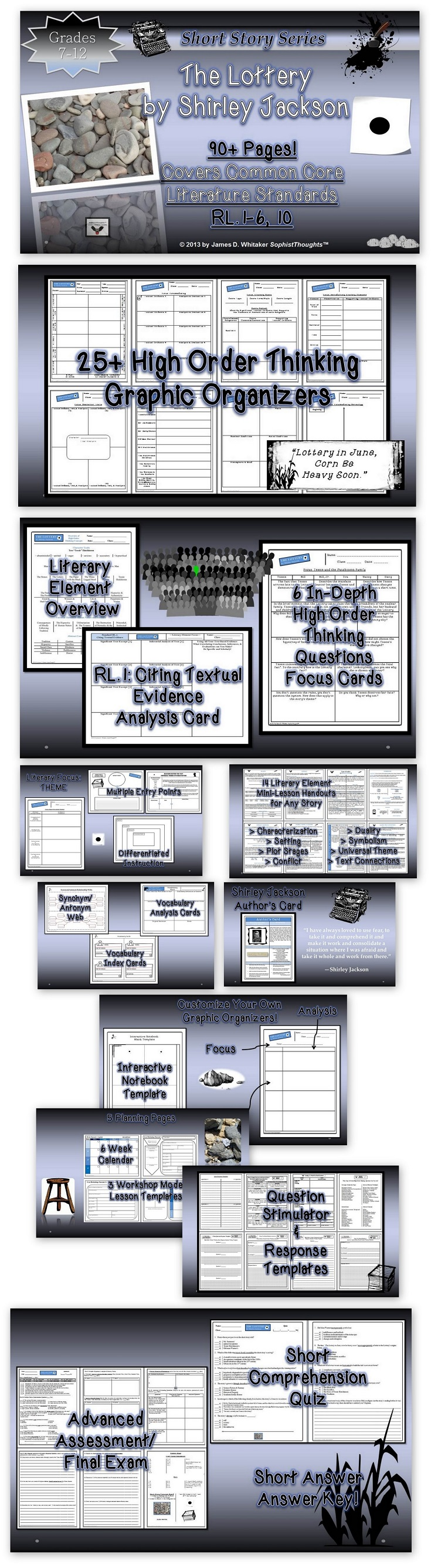 plot and central idea shirley jackson s lottery The lottery and other stories study guide contains a biography of author shirley jackson, literature essays, quiz questions, major themes, characters, and a full summary and analysis.