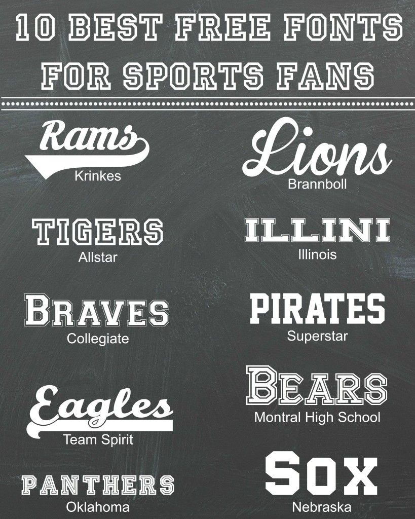 10 Best Free Fonts for Sports Fans | Fonts/Typeset | Sports fonts