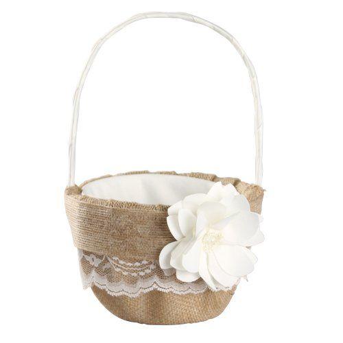 Ivy Lane Design Rustic Garden Flower Basket, 9.5 by 6-Inch, Ivory Ivy Lane Design http://www.amazon.com/dp/B00K6O3OLW/ref=cm_sw_r_pi_dp_S5pcub1WMTAJV