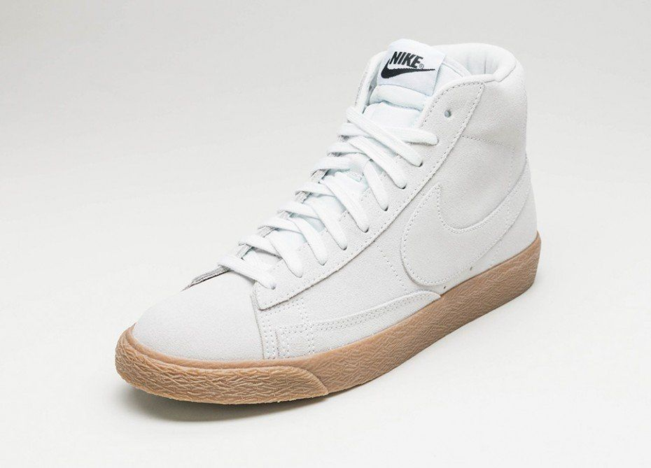 new product 45112 26dad Nike Blazer Mid PRM (Off White   Off White - Gum Light Brown)