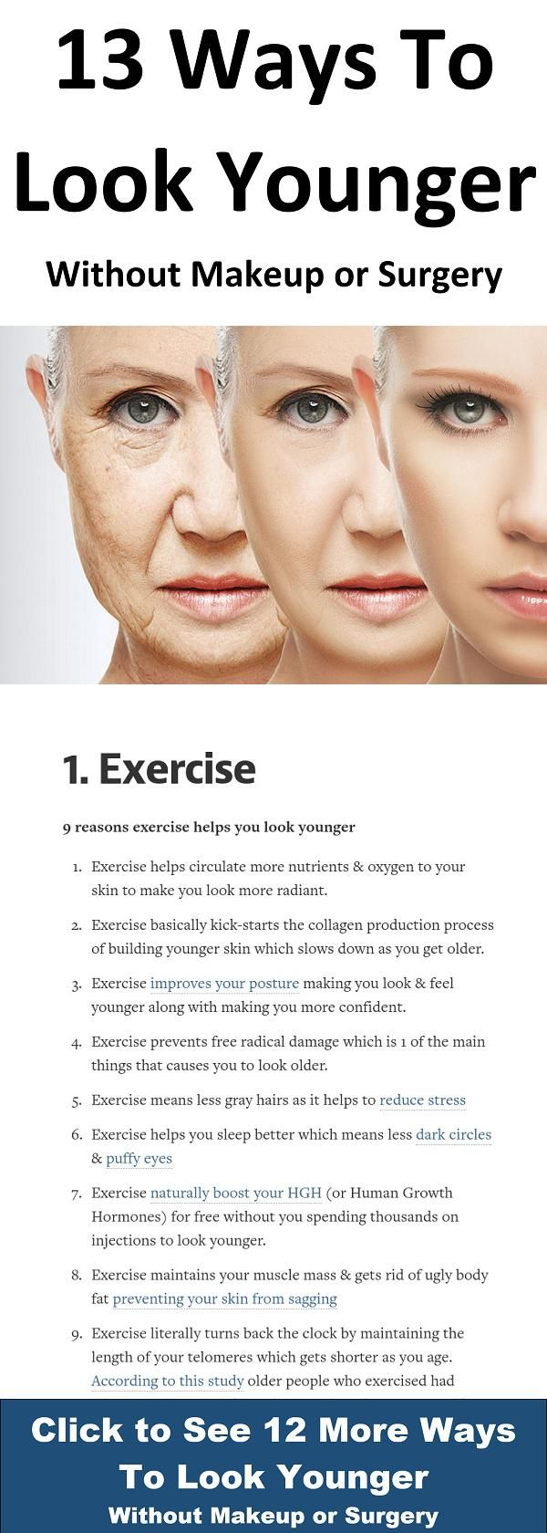 11 Ways To Look Younger Without Makeup or Surgery  Anti aging