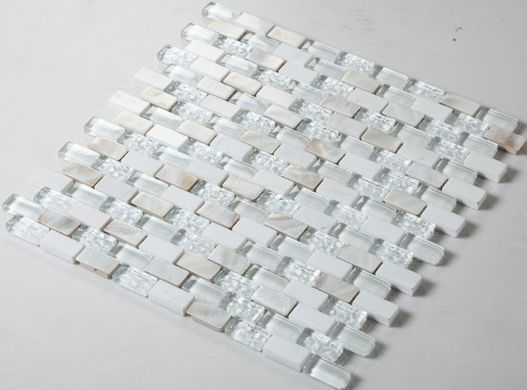 Glass mosaic tile backsplash mirrored subway tiles mosaic stone tile