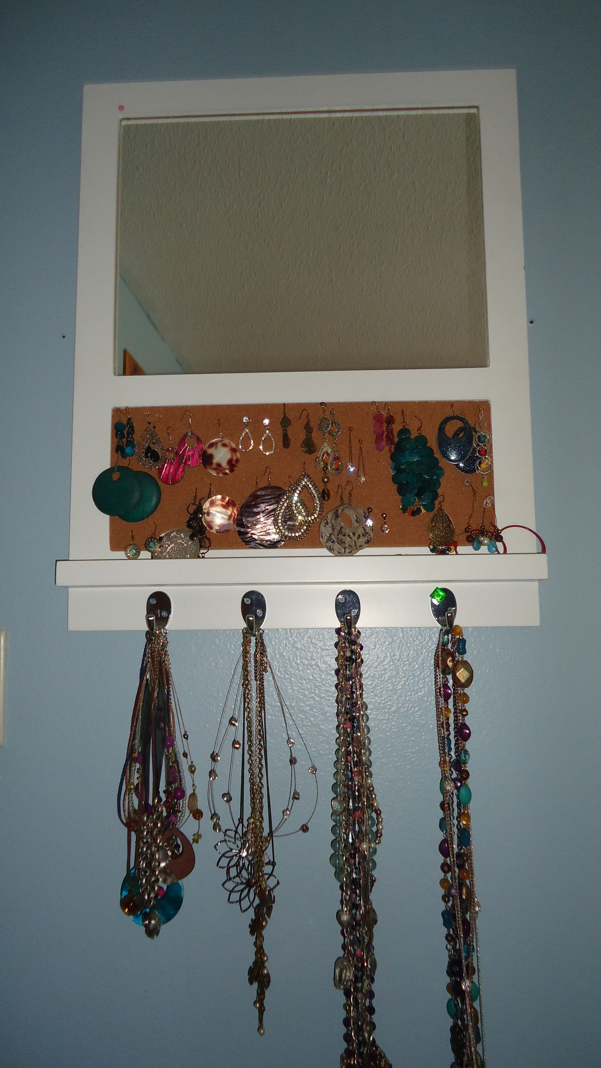 9c435407362 A memo Board (From Target) Used to hold jewlery! Necklaces hang on hooks