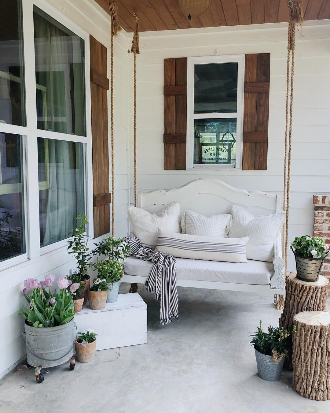 Front Porch Swings Farmhouse Exterior: Pin By Nicole Gage On Outside