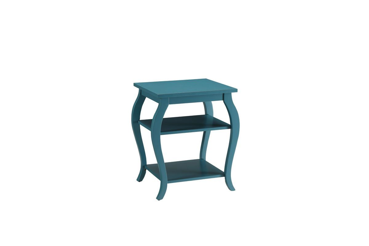 Becci End Table In Teal By Acme End Tables Table White Furniture