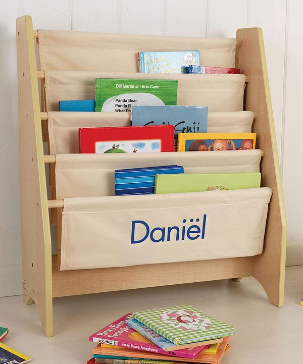 Look At This Blue Natural Personalized Sling Bookshelf On Zulily Today