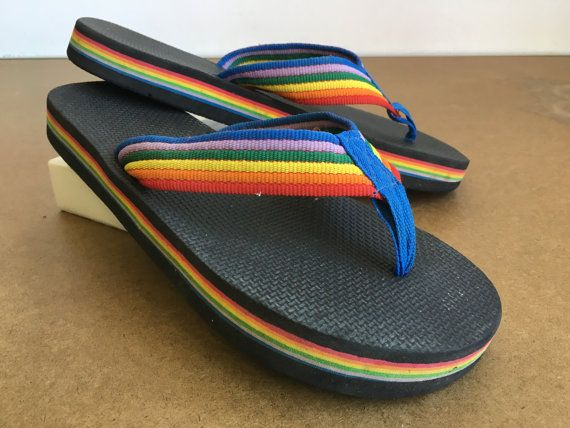 32ad8fc9a7c Rainbow Camouflage - Flip Flops Funny Thong Sandals Beach Sandals ...
