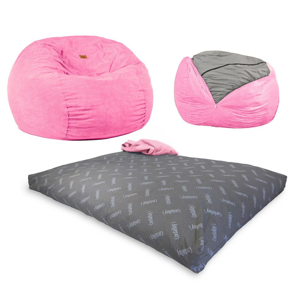 Convertible Beanbag - Full Size - Pink Corduroy | Cordaroys Convertible Beanbags