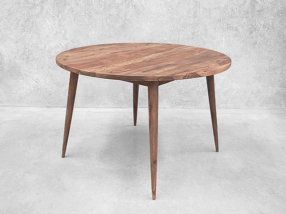 Scandinavian Design At Its Finest, This Round Timber Dining Table Packs A  Punch At 117cm