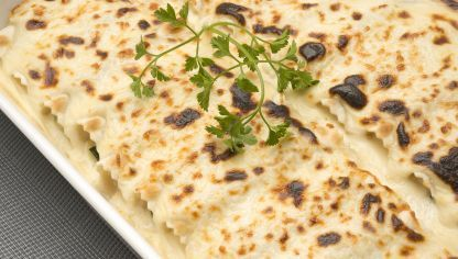 Receta de Canelones de calabacín y queso de cabra