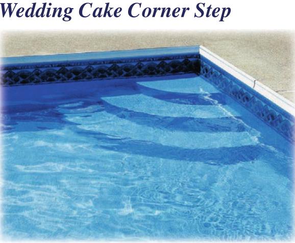 Latham Polymer Corner Wedding Cake Step 90 Deg St9002 Pool Steps Rectangle Pool Pool Steps Inground