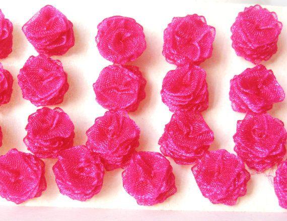 Pink 36 Pcs Rose Pink Organza Roses by LilaRoseJewel on Etsy, $6.00