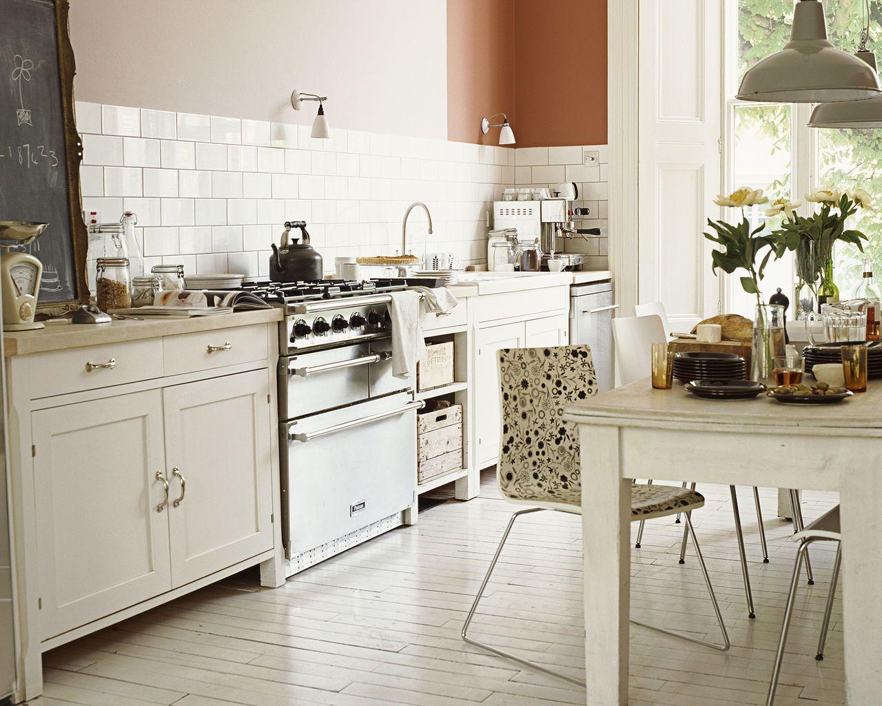 Peinture cuisine blanche cuisine rustique dulux - Meuble de cuisine rustique ...