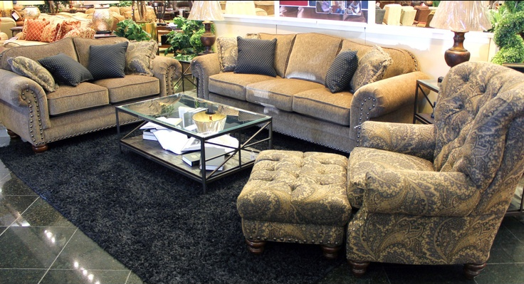 Check Out This Beautiful Mayo Furniture Living Set We Love The Paisley Upholstered Chair Houston Tx Gallery Furniture Gallery Furniture Furniture Store