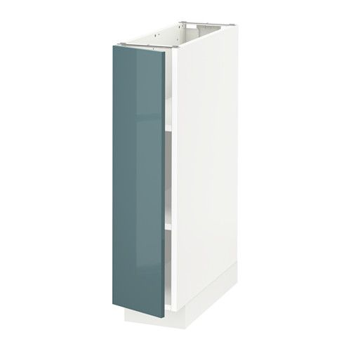 Best Metod Base Cabinet With Shelves White Kallarp Grey 400 x 300