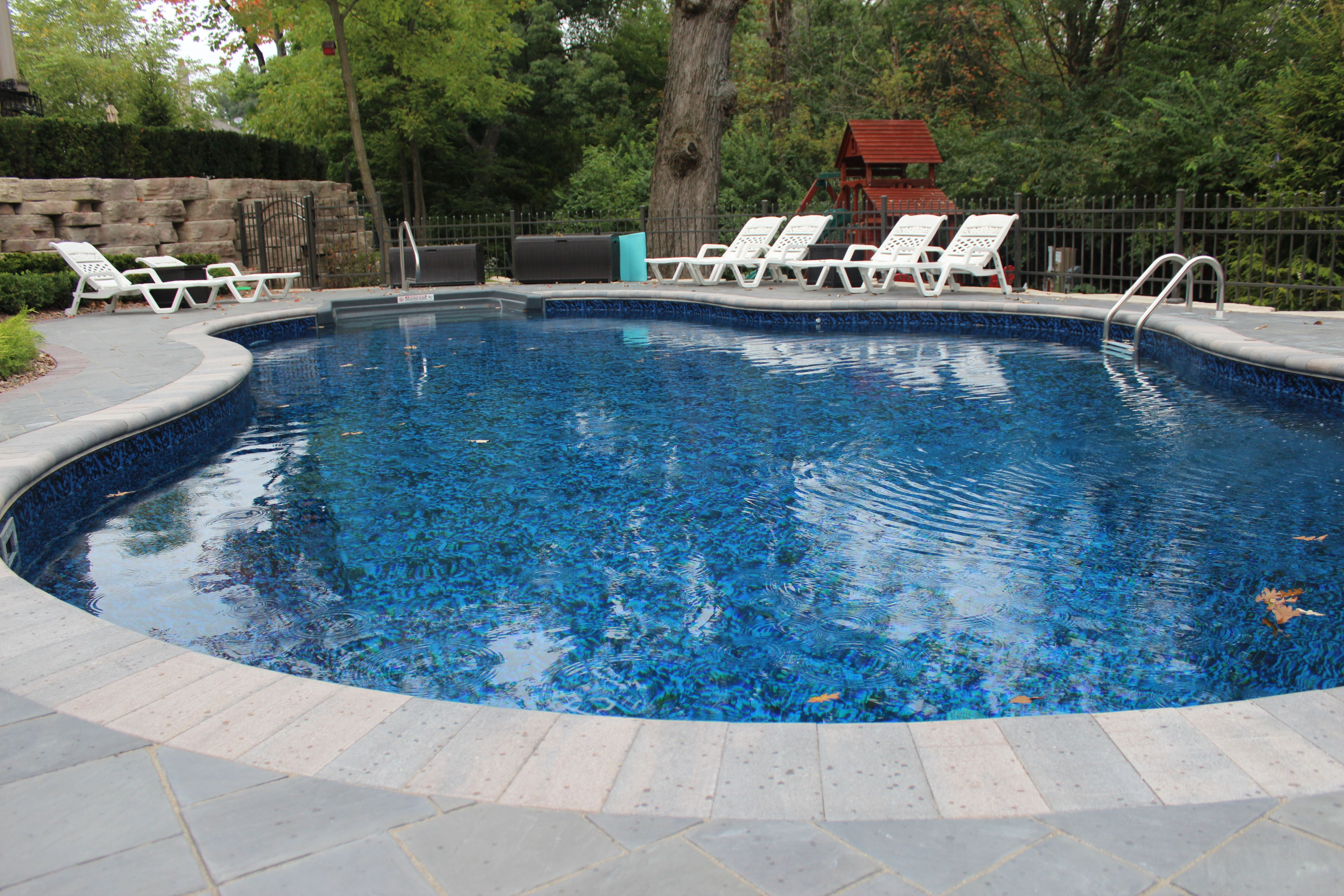 This pool is a 22 x 37 Mountain Lake with Steel walls and a vinyl ...