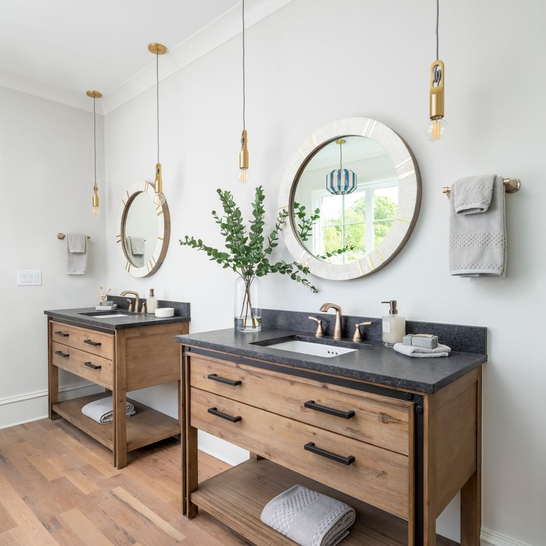 Pike Properties On Instagram We Ve Always Used The Term Rustic Modern To Describe Our Interior Style An Vanity Design Amazing Bathrooms Interior Styling