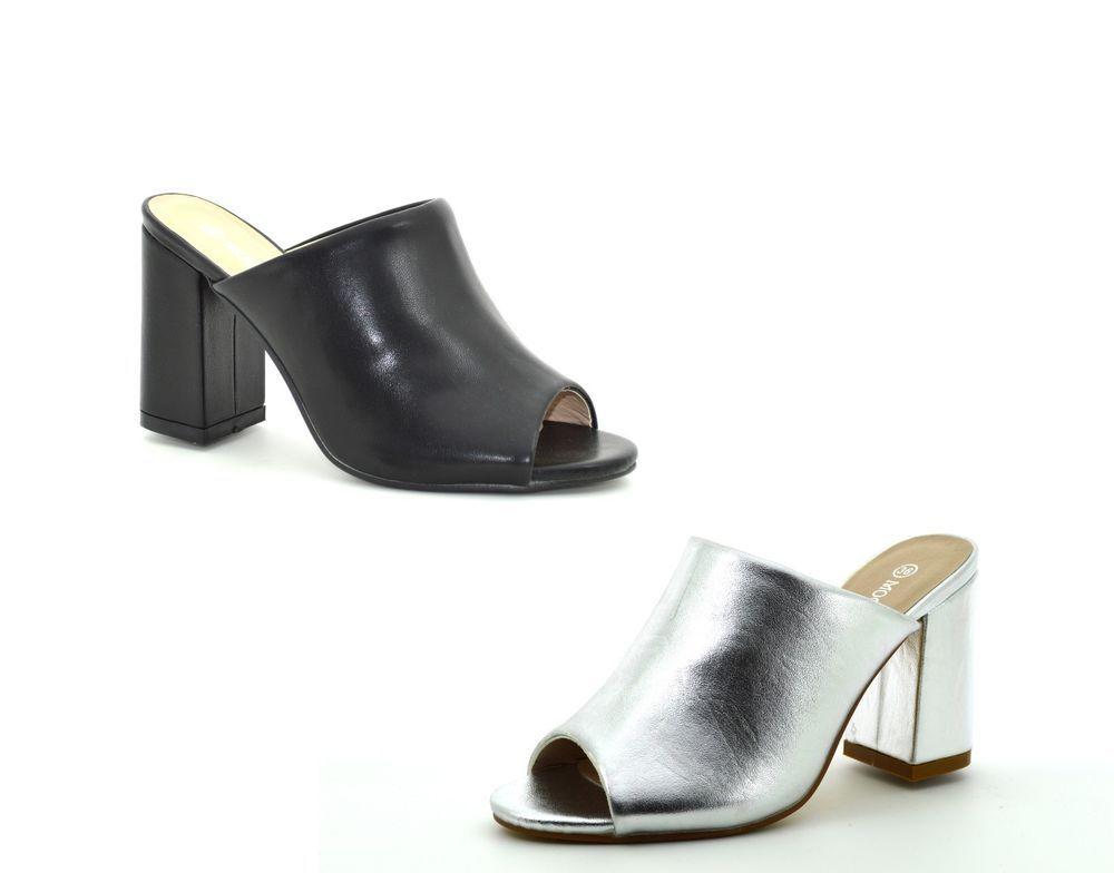 37f048a428aea Sandali donna spuntati estivi scarpe aperte mare tronchetto aperto tacco  medio