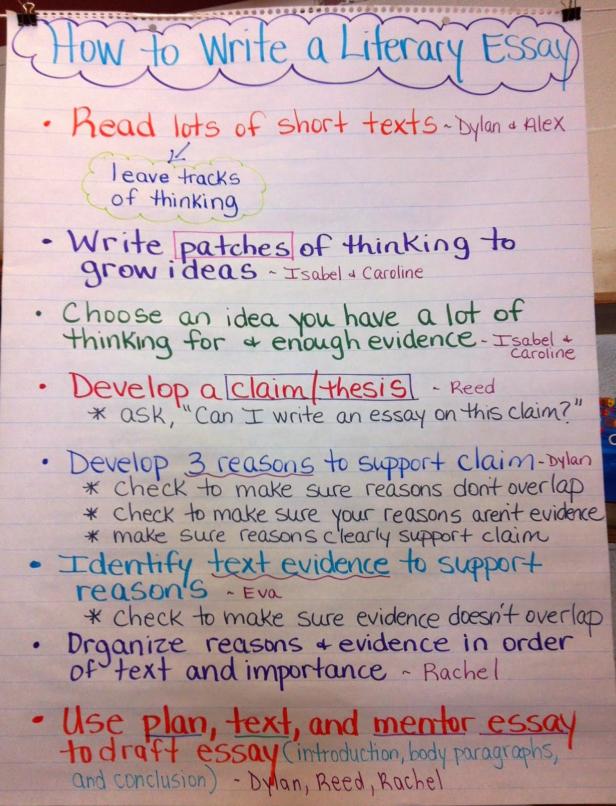 Writing a literary essay