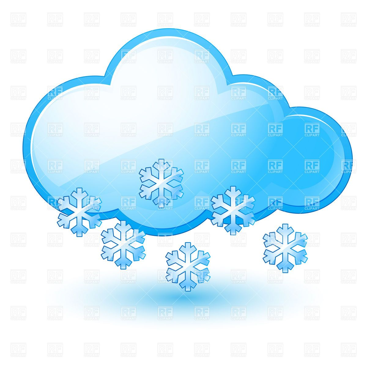 Cloud With Snowflake Snow Weather Icon Icons And Emblems Free Vector Clipart Weather Icons Vector Artwork