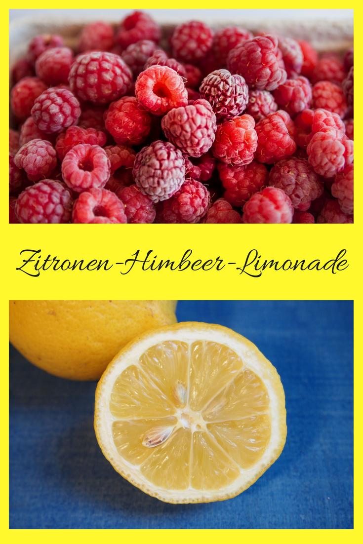 Rezept für Zitronen-Himbeer-Limonade: schnelle und nicht zu süße Zitronenlimonade mit Himbeeren. Lecker und fruchtig. #Limonade #sommerrezept #frozenlemonade