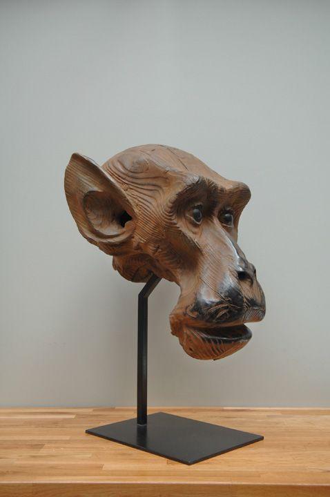"""Quentin Garel, Macaque I, Bronze, 30½""""  x 22"""" x 18"""" #art #sculpture #monkey…"""