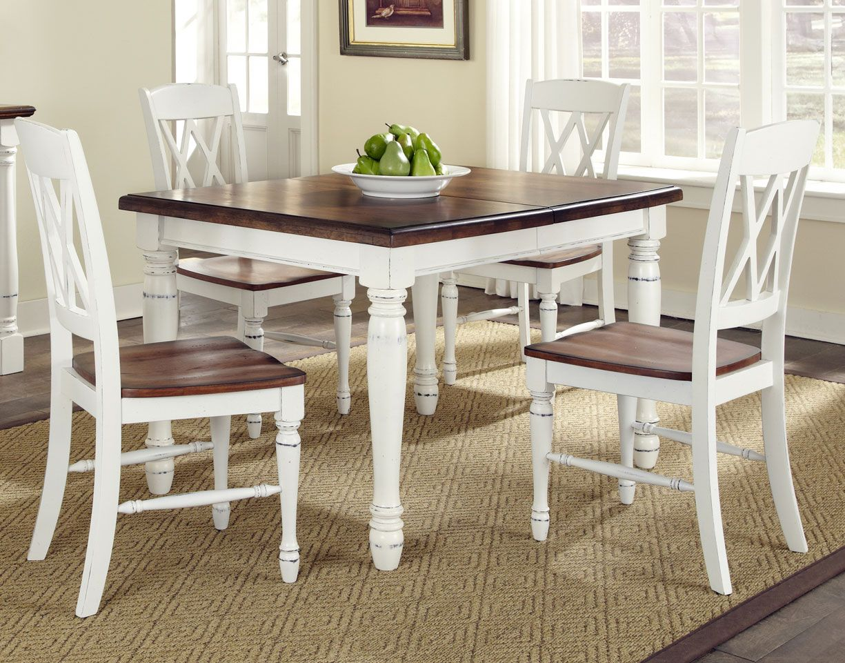 country style kitchen tables curtains home styles monarch white and oak dining room table adorable contemporary french kitchens with excellent kitch