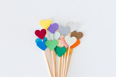 Toppers de coração | Festa, Papel e Tesoura | Printable, party, heart topper, paper topper