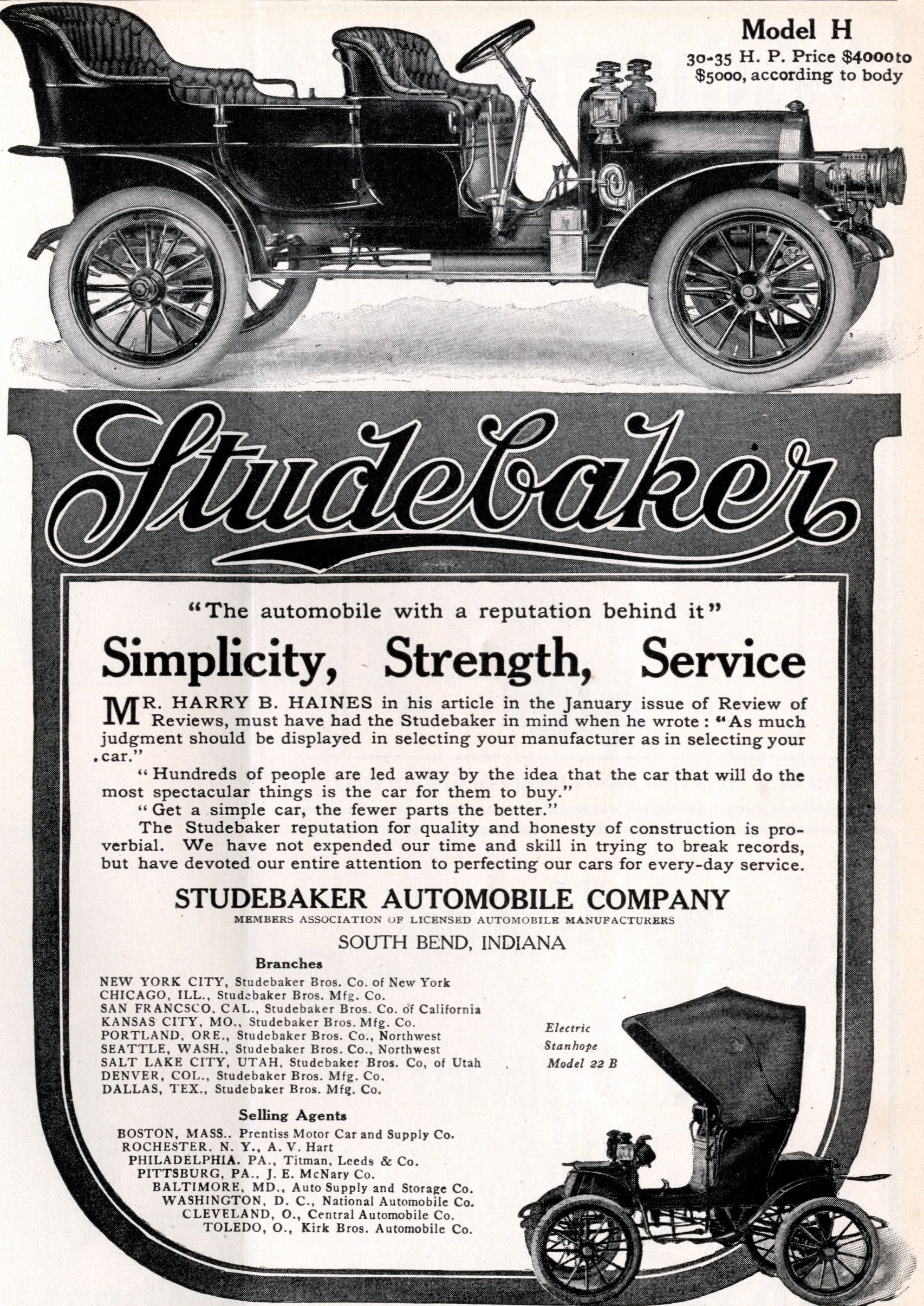 Studebaker   Life Easter Number   March 21, 1907
