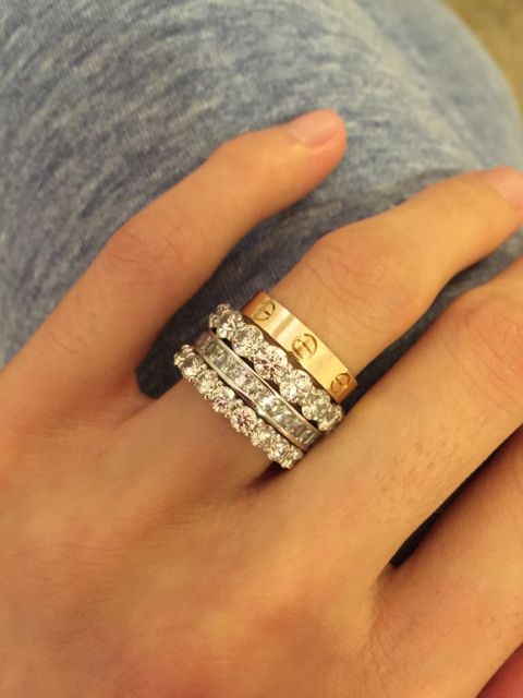 Image result for cartier love ring stack   Cartier   Pinterest     Image result for cartier love ring stack