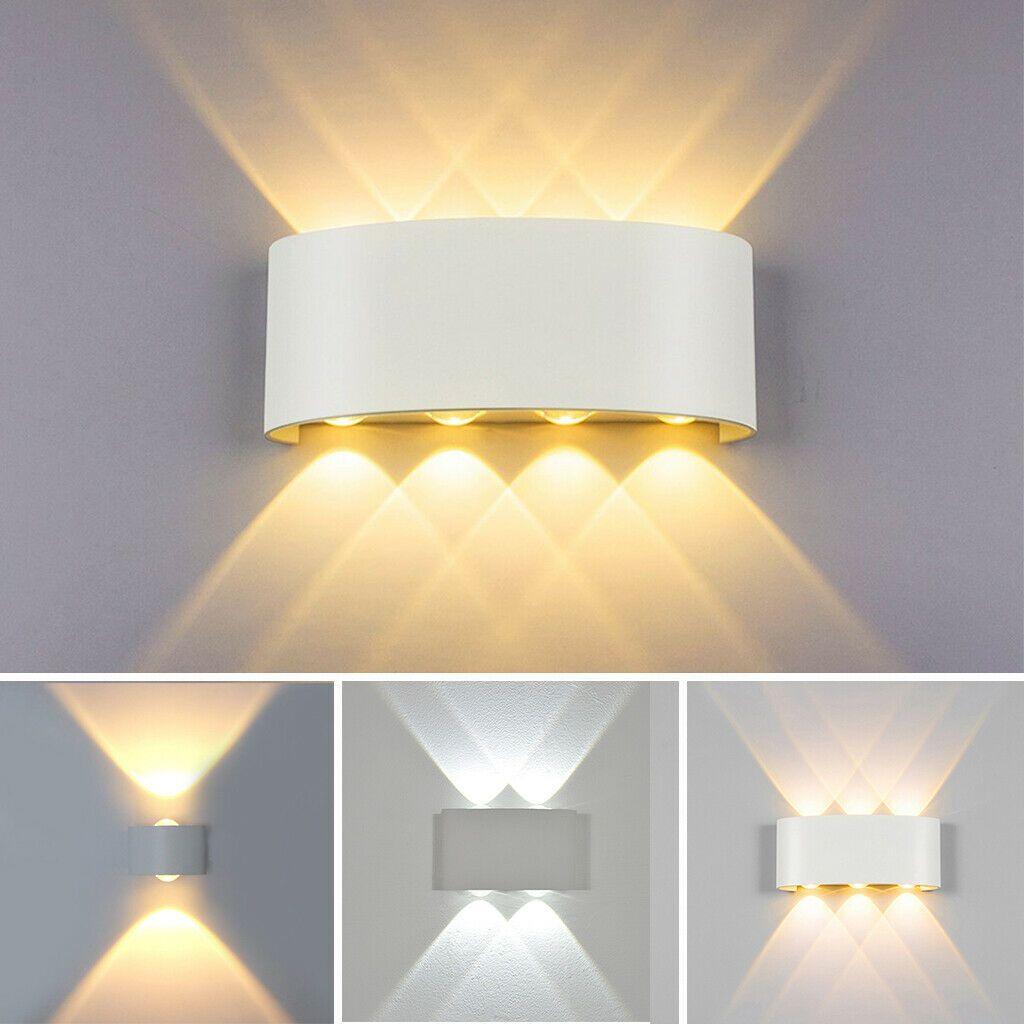 Led Modern Wall Light 2 4 6 8w Aluminium Sconce Ip65 Outdoor Up Down Wall Lamp In 2020 Wall Lights Modern Wall Lights Indoor Wall Lights