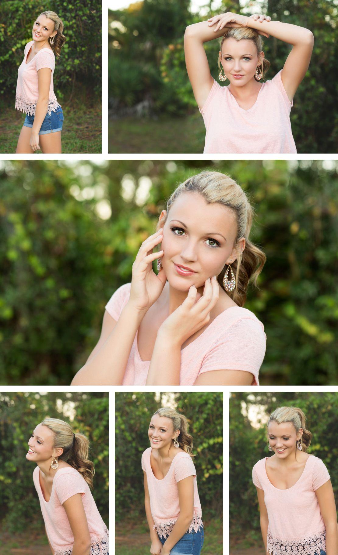 Alexandra Feild Photography Senior Portraits Viera Melbourne Orlando Florida | Senior girl posing, pretty in pink, soft lighting