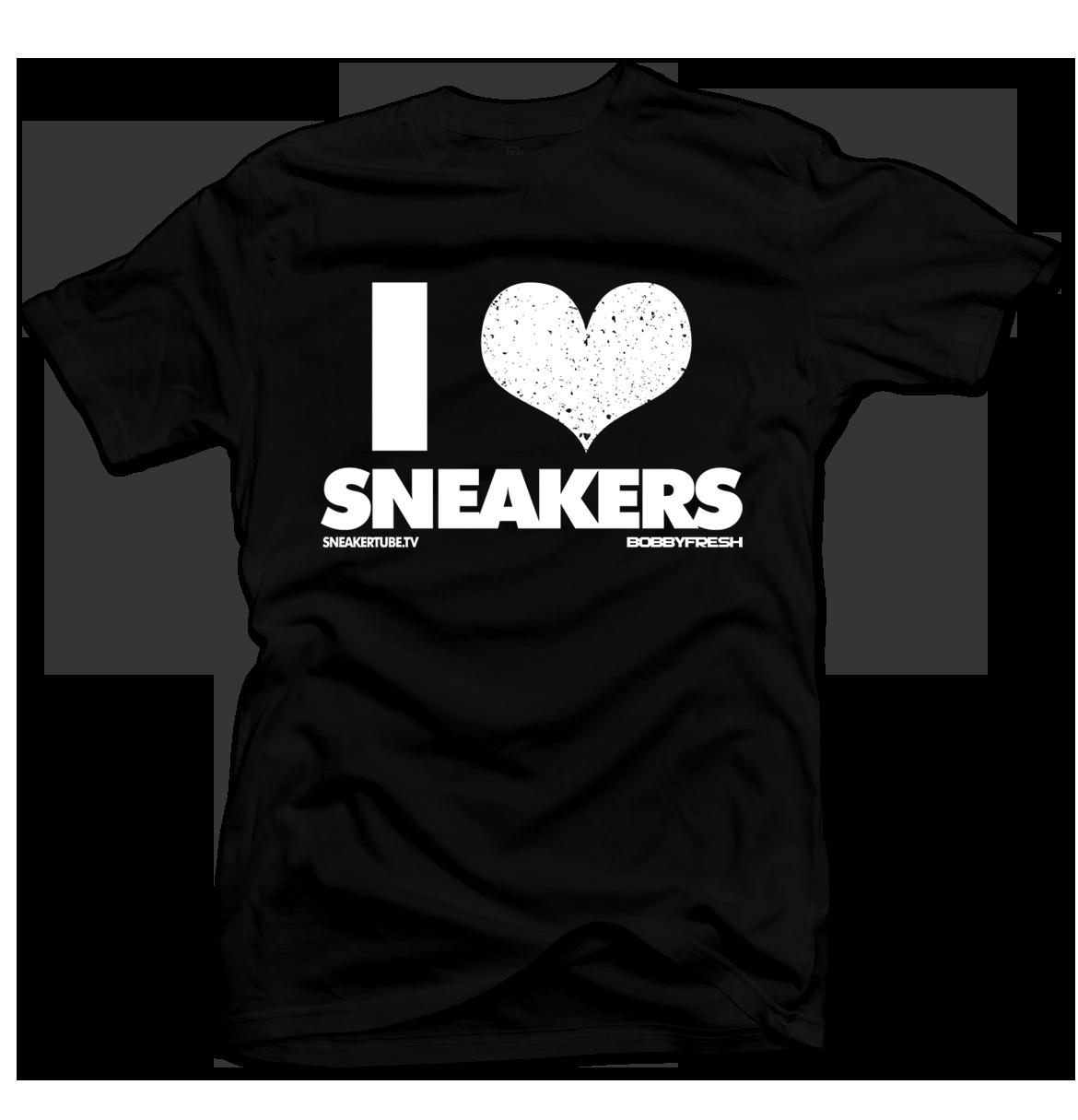 Bobby Fresh x SneakerTube I Love Sneakers Black/White Speckle Tee