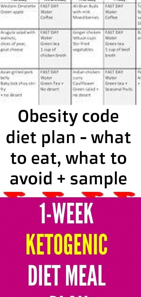 Obesity code diet plan  what to eat what to avoid  sample 7day diet  jason fung 7