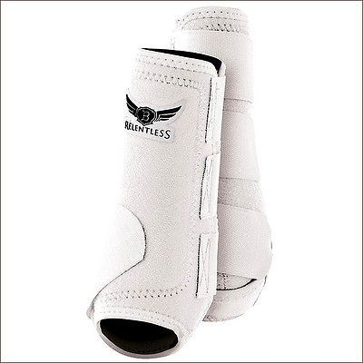 LARGE CACTUS ROPES RELENTLESS ALL AROUND HORSE LEG SPORT BOOT 4 PACK WHITE
