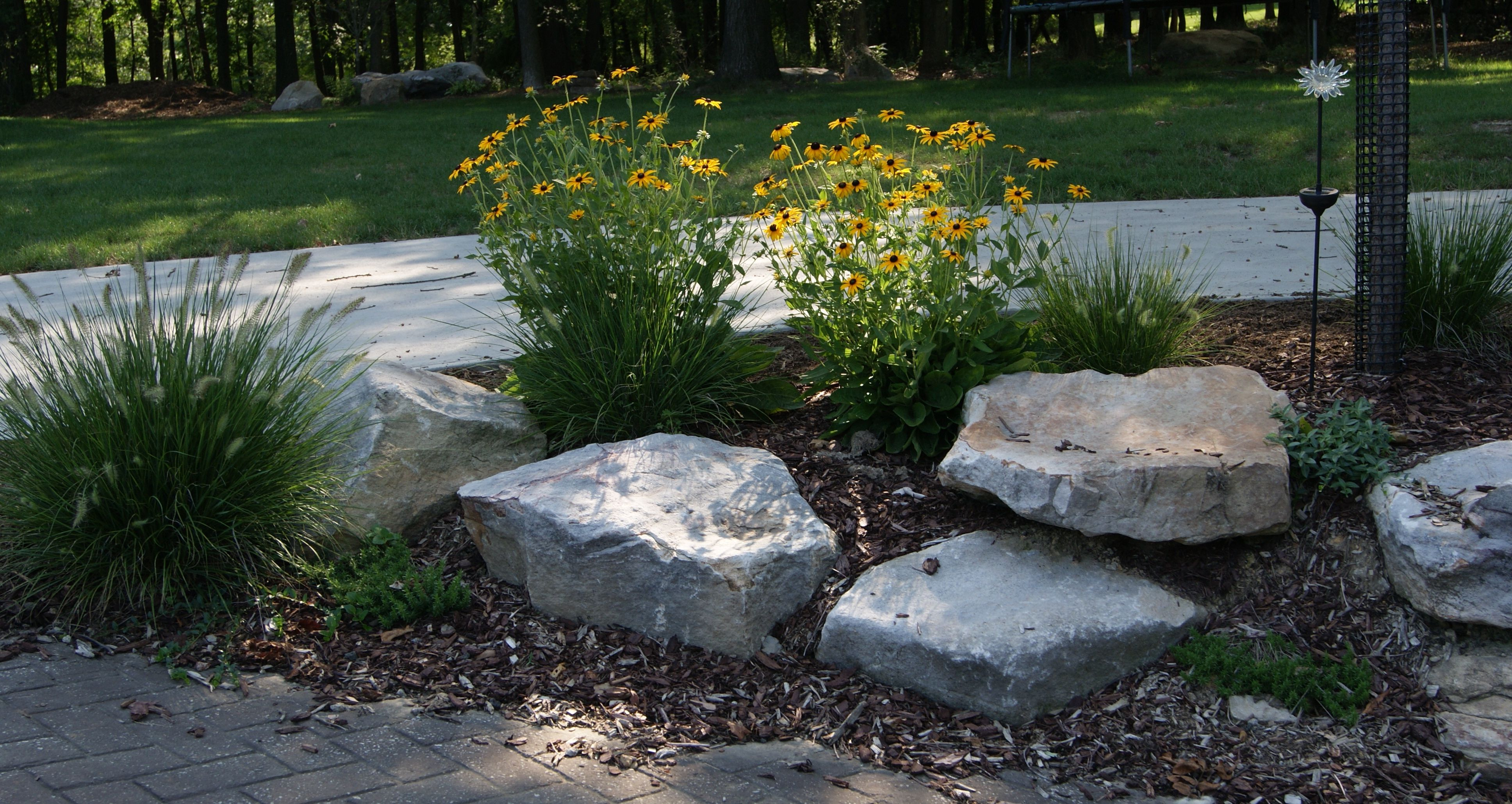 Landscaping boulders rocks our house 300x159 love rocks for Rock landscaping ideas