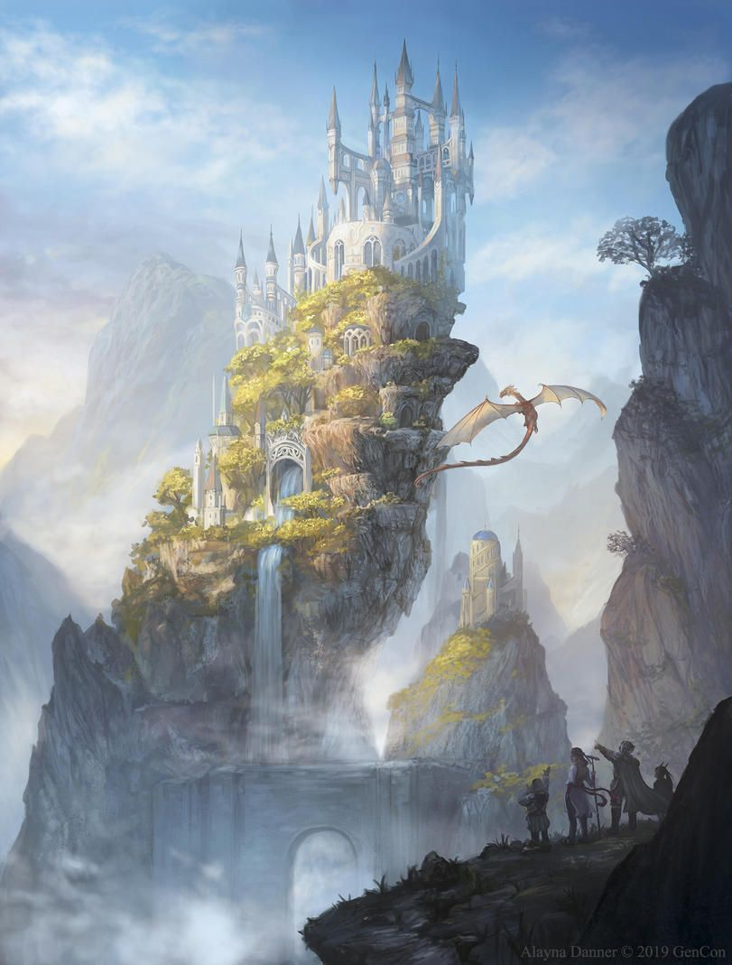 Замок и дракон картинки