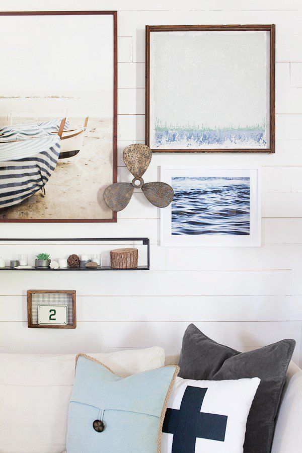 Photo of Sea Gallery Wall | Lake Decor | Farmhouse | Lakehouse | Cottage | Decorating