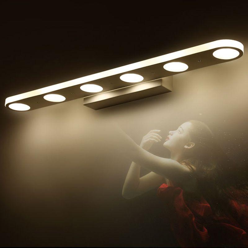 12w 18w modern led mirror lights for bathroom washroom dress room 12w 18w modern led mirror lights for bathroom washroom dress room stainless steel led mirror lamp make up modern mirror lights aloadofball Gallery