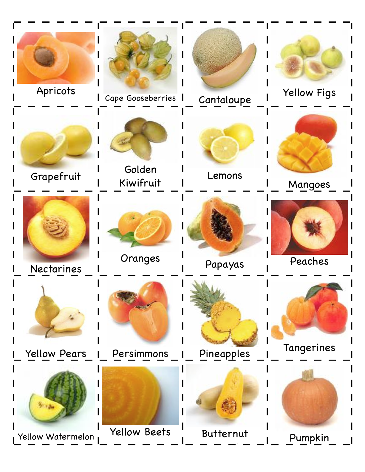 image regarding Printable Fruit and Vegetables named Preschool Is Pleasurable Creating Functions: End result/Veggies