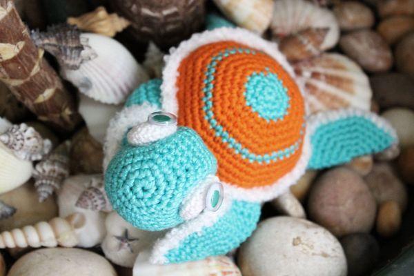 Nette Schildkröte eignet sich wunderbar als Kuscheltier, Dekoobjekt ...