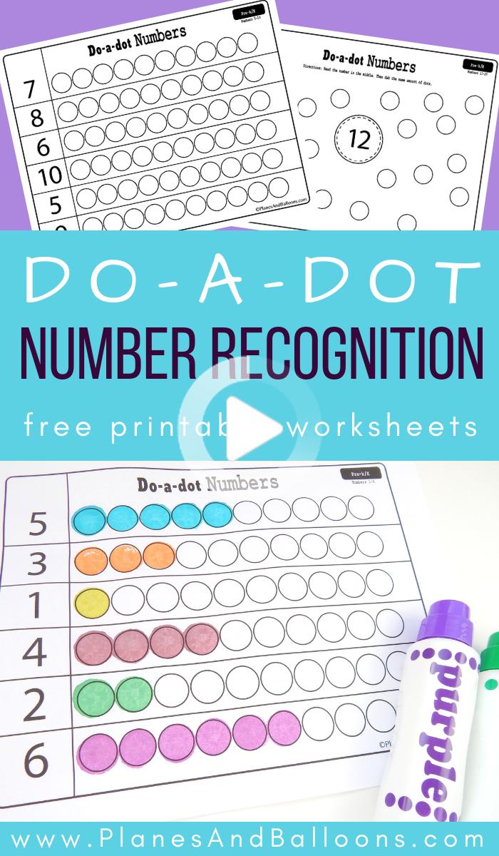 Dot Marker Number Recognition Worksheets Math Activities Preschool Numbers Preschool Preschool Learning [ 1200 x 700 Pixel ]