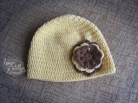 Como hacer y tejer paso a paso este gorro de lana con dos agujas es ...