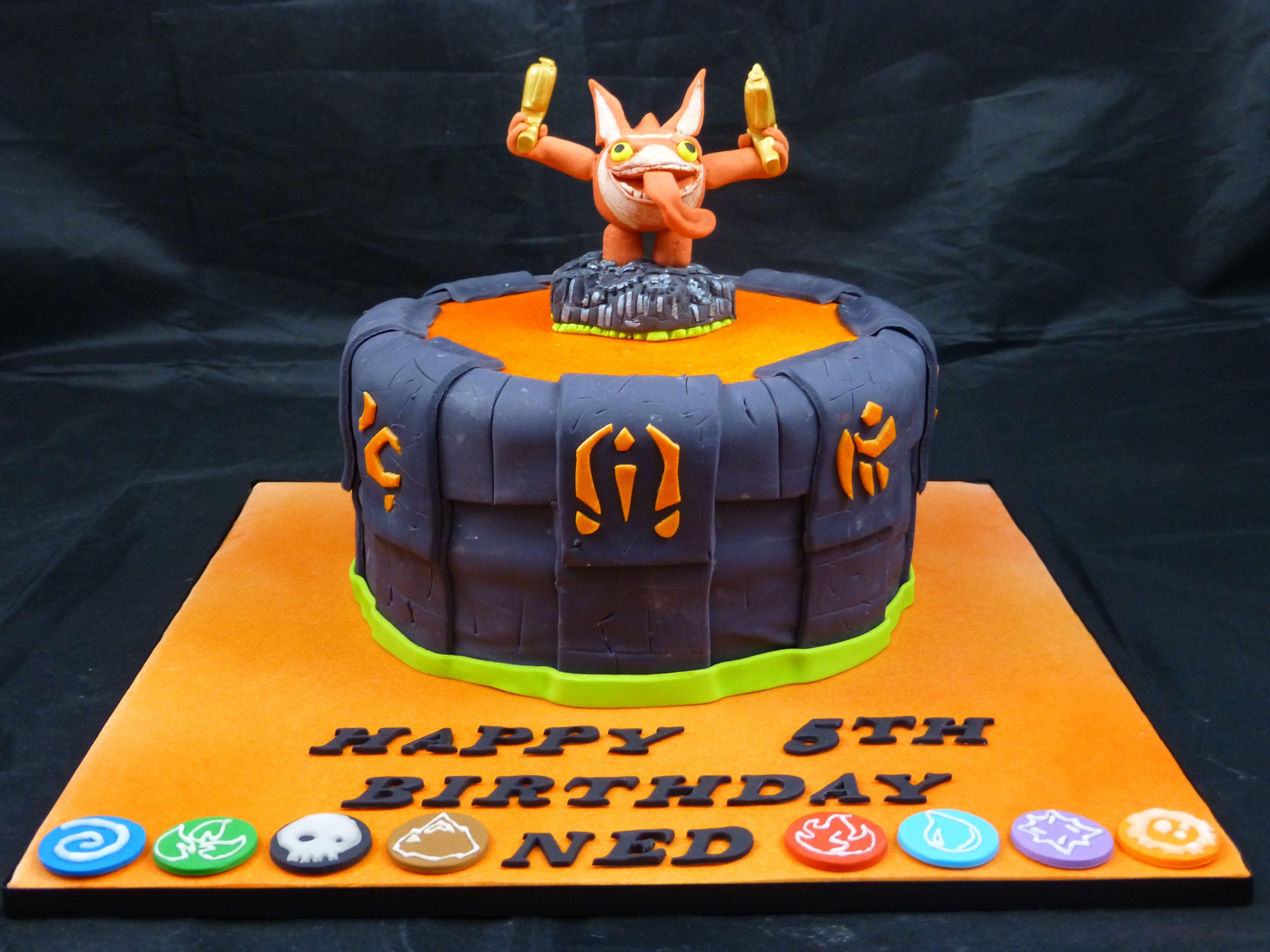 Skylanders Cake Skylanders Cake Board And Top Of Portal