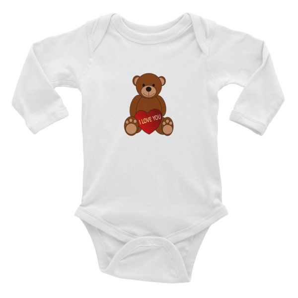 This+long-sleeve+baby+onesie+is+soft,+comfortable,+and+made+of+100%+cotton.+It's+designed+to+fit+infants+of+all+sizes,+with+a+rib+knit+to+give+good+stretch+and+a+neckband+for+easy+on-and-off.  •+100%+baby+rib+cotton+construction+(heather+contains+10%+polyester) •+Made+and+printed+in+the+USA •+Nec...